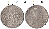 Изображение Монеты Вюртемберг 2 марки 1914 Серебро UNC-