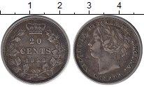 Изображение Монеты Северная Америка Канада 20 центов 1858 Серебро XF