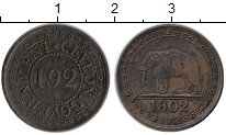 Изображение Монеты Цейлон 1/192 ригсдоллара 1802 Медь XF