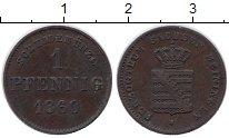 Изображение Монеты Германия Саксен-Майнинген 1 пфенниг 1860 Медь XF