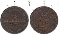 Изображение Монеты Мекленбург-Шверин 2 пфеннига 1872 Медь XF В