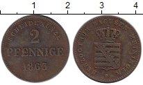 Изображение Монеты Германия Саксен-Майнинген 2 пфеннига 1863 Медь XF