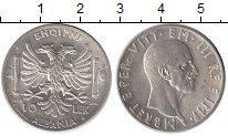 Изображение Монеты Албания 10 лек 1939 Серебро UNC-