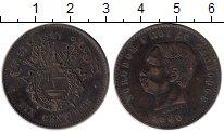 Изображение Монеты Азия Камбоджа 10 сантим 1860 Медь XF