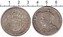Изображение Монеты Великобритания Родезия 1/2 кроны 1935 Серебро UNC-