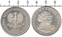 Изображение Монеты Польша 100 злотых 1975 Серебро Proof- Хелена Моджеевская