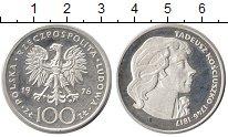 Изображение Монеты Польша 100 злотых 1976 Серебро Proof Тадеуш  Костюшко