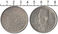 Изображение Монеты Египет 20 пиастров 1939 Серебро XF+
