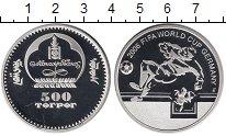 Изображение Монеты Монголия 500 тугриков 2006 Серебро Proof Чемпионат  мира  по