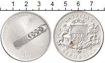 Изображение Монеты Европа Латвия 1 лат 2005 Серебро UNC-