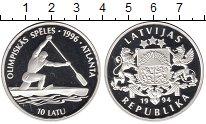 Изображение Монеты Европа Латвия 10 лат 1994 Серебро Proof