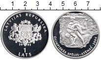 Изображение Монеты Европа Латвия 1 лат 2002 Серебро Proof
