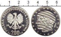 Изображение Монеты Польша 200 злотых 1976 Серебро Proof- XXI летние Олимпийск