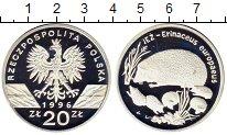 Изображение Монеты Польша 20 злотых 1996 Серебро Proof Ежи