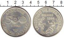 Изображение Монеты Венгрия 500 форинтов 1986 Серебро UNC-