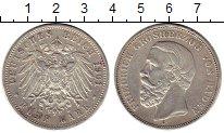 Изображение Монеты Германия Баден 5 марок 1901 Серебро XF