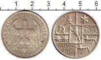 Изображение Монеты Веймарская республика 3 марки 1927 Серебро XF 400 - летие  Филиппс