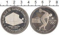 Изображение Монеты Экваториальная Гвинея 2000 экуэль 1980 Серебро Proof Олимпийские игры в М