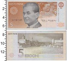 Изображение Банкноты Эстония 5 крон 1994  UNC