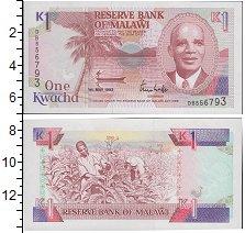 Изображение Банкноты Малави 1 квача 1992  UNC