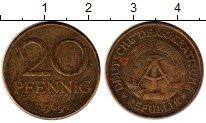 Изображение Монеты Германия ГДР 20 пфеннигов 1969 Латунь VF