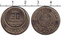 Изображение Монеты Африка Тунис 20 франков 1950 Медно-никель VF