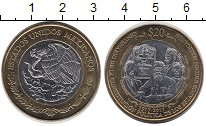 Изображение Монеты Северная Америка Мексика 20 песо 2017 Биметалл UNC