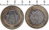 Изображение Монеты Мексика 20 песо 2016 Биметалл UNC-