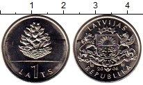 Изображение Мелочь Латвия 1 лат 2006 Медно-никель UNC-