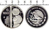 Изображение Монеты Северная Америка Мексика 100 песо 1985 Серебро Proof