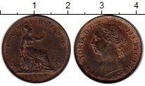 Изображение Монеты Великобритания 1 фартинг 1885 Бронза XF Виктория