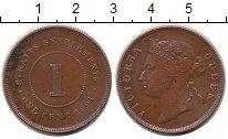 Изображение Монеты Стрейтс-Сеттльмент 1 цент 1901 Медь XF