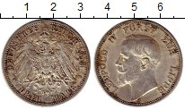 Изображение Монеты Германия Липпе-Детмольд 3 марки 1913 Серебро XF