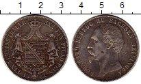 Изображение Монеты Саксе-Мейнинген 1 талер 1862 Серебро XF- Герцог Бернхард