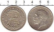 Изображение Монеты Великобритания 1/2 кроны 1928 Серебро XF+