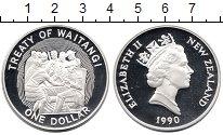 Изображение Монеты Новая Зеландия 1 доллар 1990 Серебро Proof
