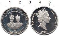Изображение Монеты Великобритания Бермудские острова 1 доллар 1997 Серебро Proof-