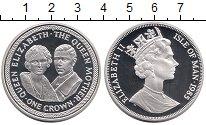 Изображение Монеты Остров Мэн 1 крона 1985 Серебро Proof Королева-мать