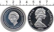 Изображение Монеты Великобритания Остров Мэн 1 крона 1984 Серебро Proof-