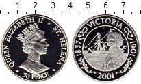 Изображение Монеты Остров Святой Елены 50 пенсов 2001 Серебро Proof
