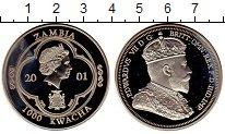 Изображение Монеты Замбия 1000 квач 2001 Медно-никель Proof