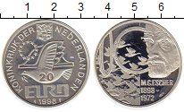 Изображение Монеты Нидерланды 20 евро 1998 Серебро Proof-