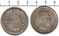 Изображение Монеты Румыния 100 лей 1932 Серебро XF-