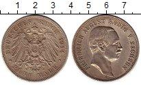 Изображение Монеты Саксония 5 марок 1914 Серебро XF-