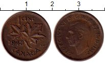 Изображение Монеты Канада 1 цент 1943 Бронза XF