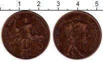 Изображение Монеты Франция 5 сантим 1916 Бронза XF- м.д.Мадрид