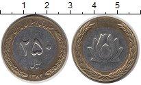 Изображение Монеты Азия Иран 250 риалов 2003 Биметалл XF