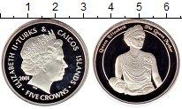 Изображение Монеты Великобритания Теркc и Кайкос 5 крон 2001 Серебро Proof-