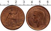 Изображение Монеты Великобритания 1 пенни 1947 Бронза UNC-