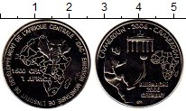 Изображение Монеты Камерун 1500 франков 2006 Медно-никель UNC
